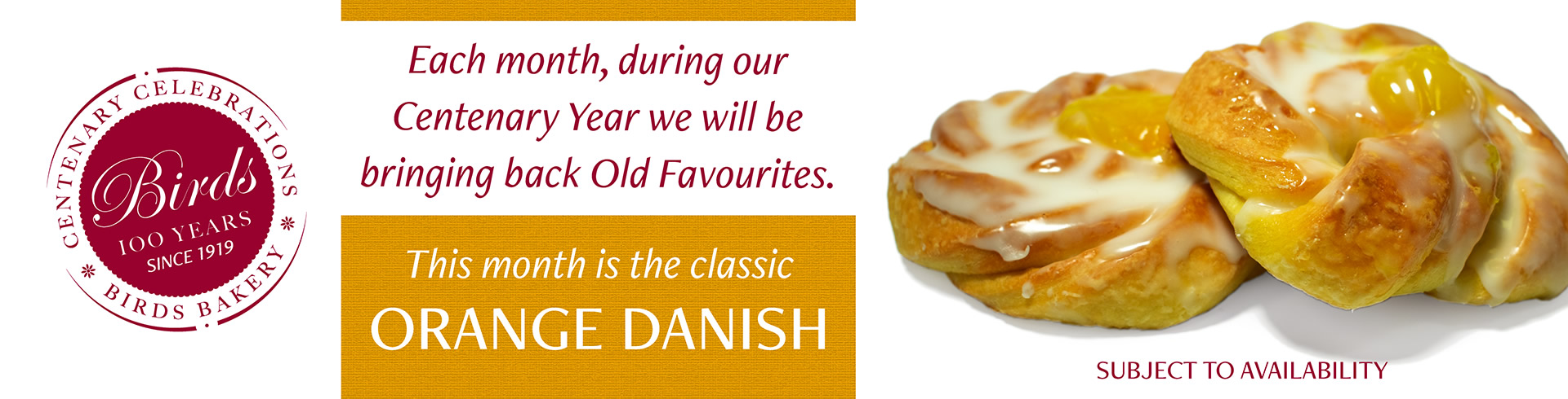 This month sees the return of the Orange Danish